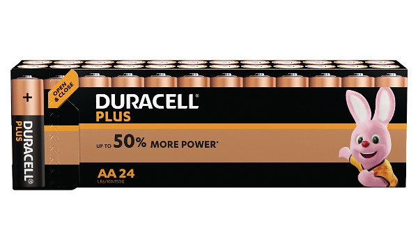 Pile AA 1,5V Duracell Plus Power Blister de 24 MN1500B24