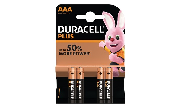 Pile AAA 1,5V Duracell Plus Power Blister de 4 MN2400B4