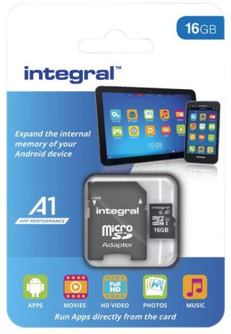 SDMCard MicroSD Integral 64GB SDXC CL10 UHS 1 90 MB/S + adapt (Taxes 2.81€HT)