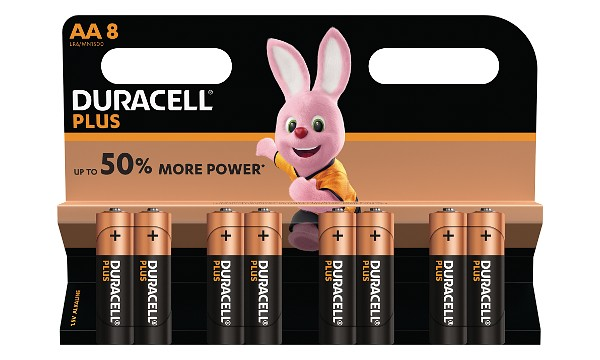 Pile AA 1,5V Duracell Plus Power Blister de 8 MN1500B8